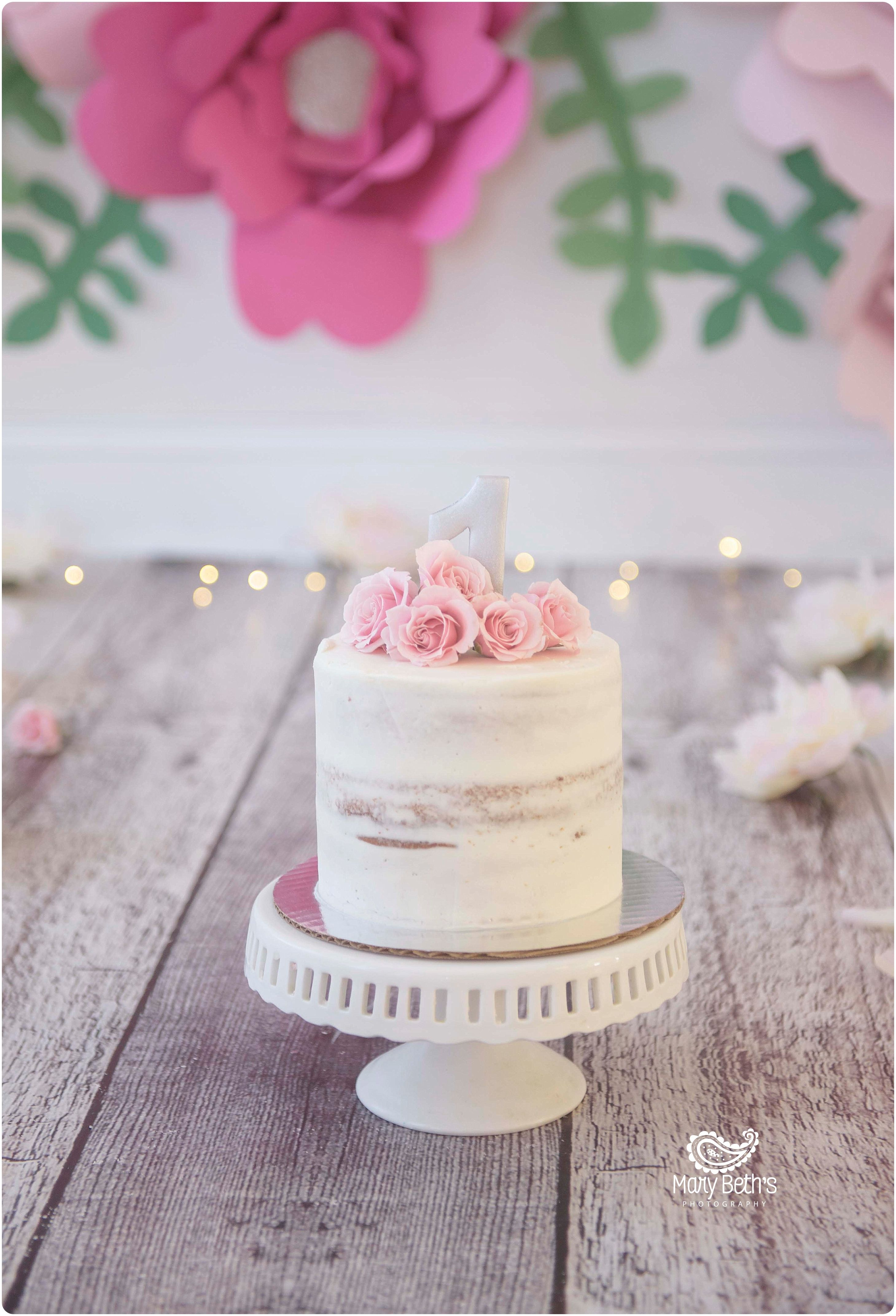 Floral Themed Cake Smash and 1st Birthday portraits for Mary Beth\'s ...