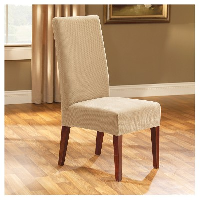 Stretch Pique Short Dining Chair Slipcover Sure Fit Slipcovers