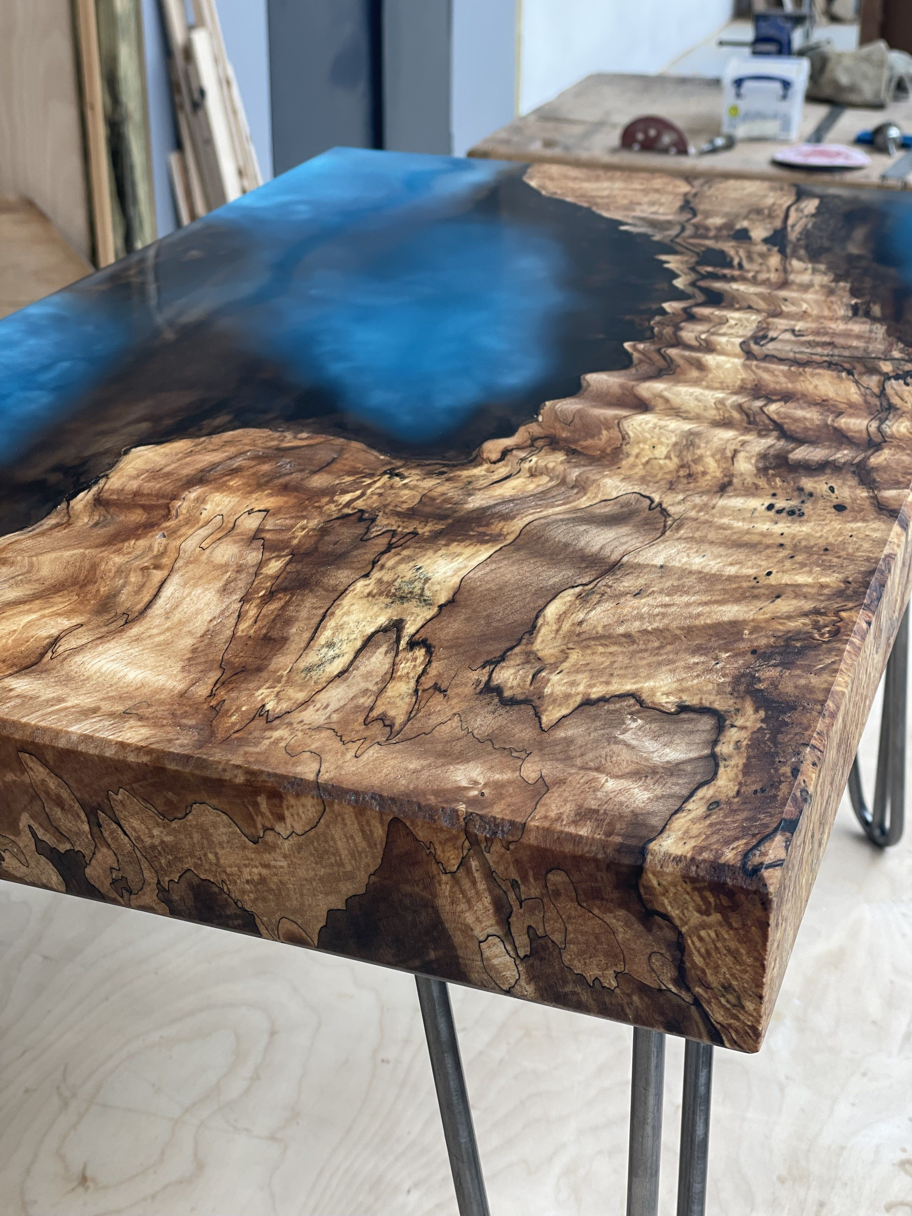 Resin coffee table - river table - coffee table - living room furniture