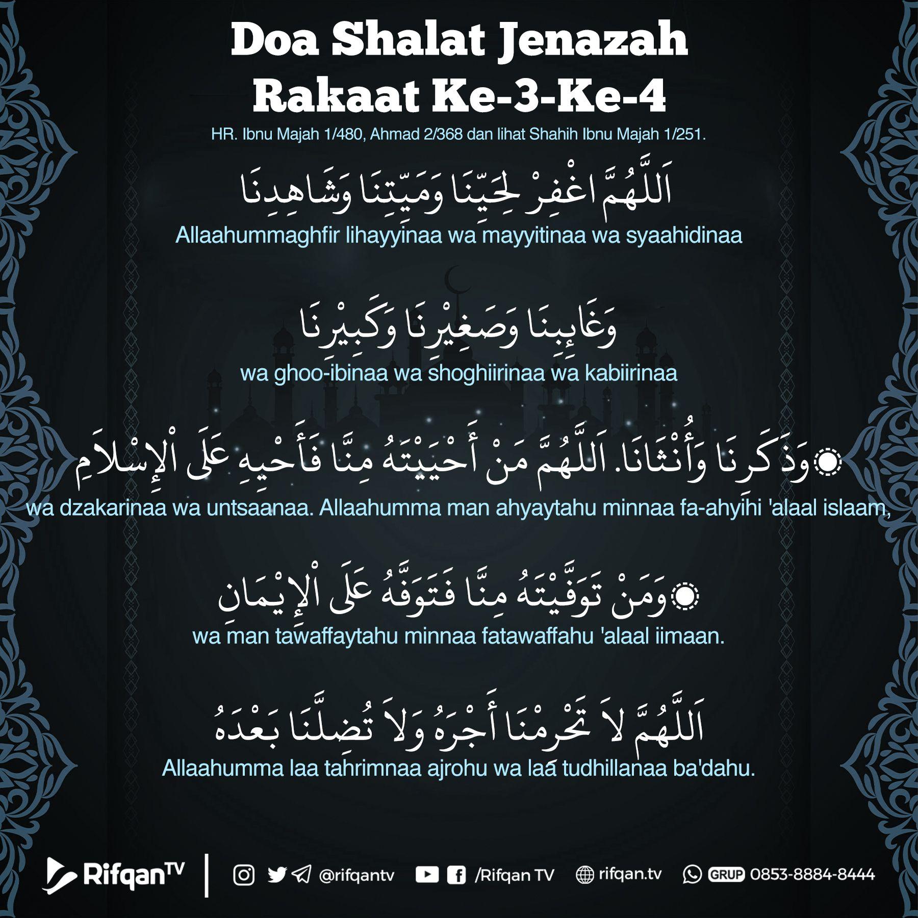 Doa Shalat Jenazah