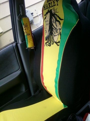 2 Bob Marley Rasta Car Seat Covers By Nafatarie On Etsy