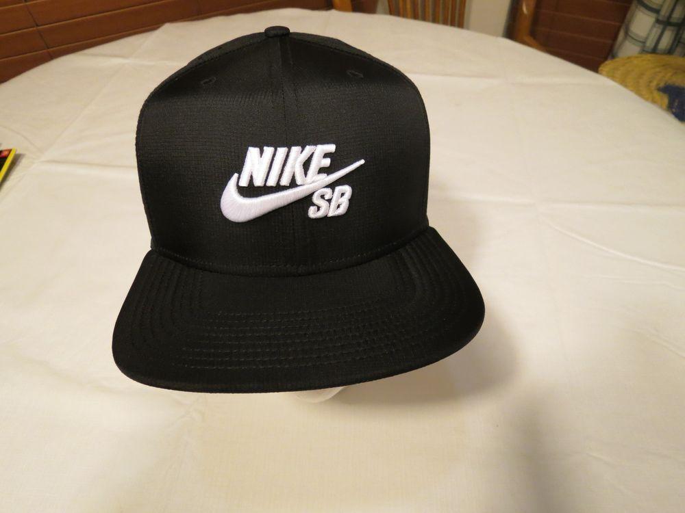743d52cac8d Nike SB dri fit hat cap RARE skateboarding adult Men s unisex black  snapback NEW…