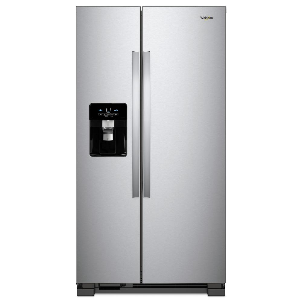 Whirlpool 21 Cu Ft Side By Side Refrigerator In Monochromatic