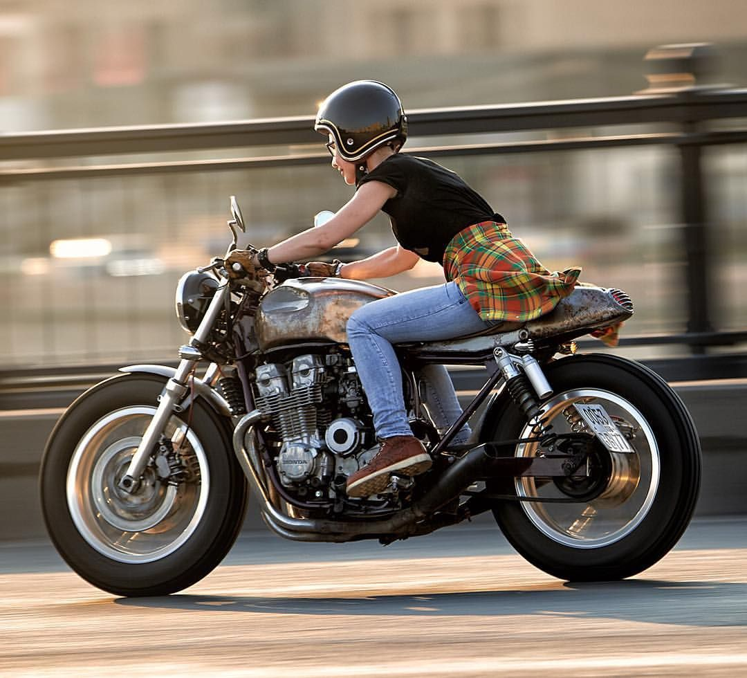 "dropmoto: ""Patina queen(s). Great little vintage Honda rocket shared with us by…"