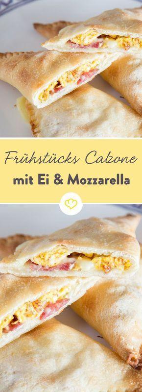 Frühstücks-Calzone mit Ei und Mozzarella #aperodinatoirefacile