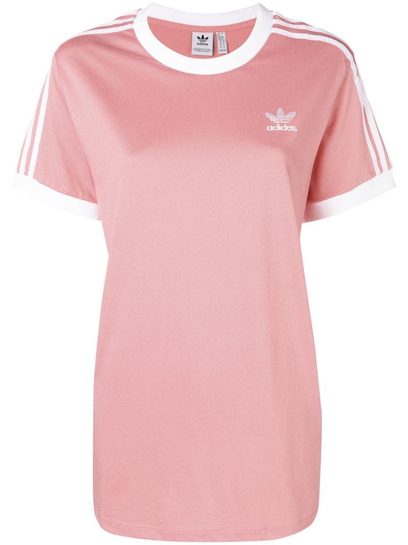 PinkPink Stripes Classic Originals 3 T Adidas Shirt n0mvN8w