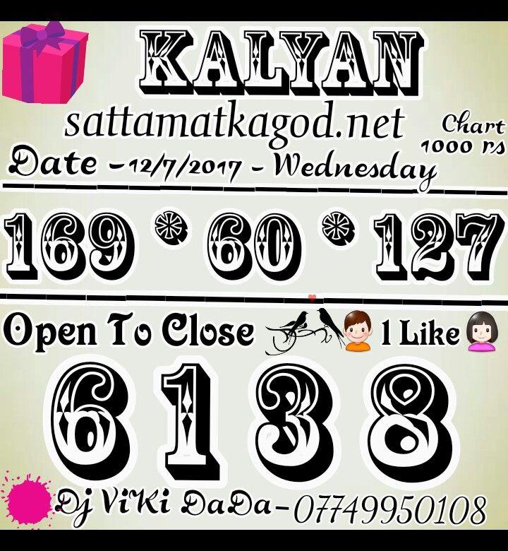 12/7/2017 _ KALYAN MATKA SINGLE JODI ||| 4 ANK OPEN TO CLOSE