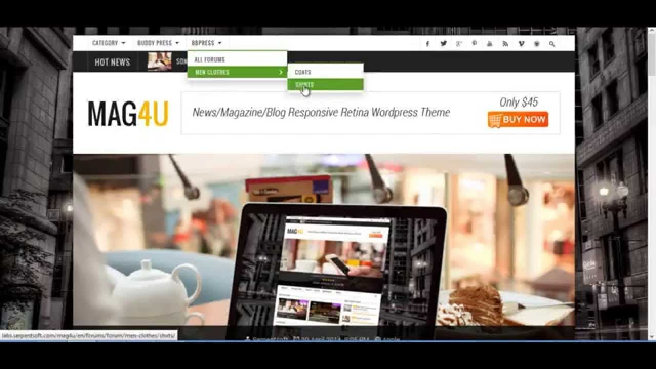 Mag4u - Responsive WordPress Theme News, Magazine, Blog ...