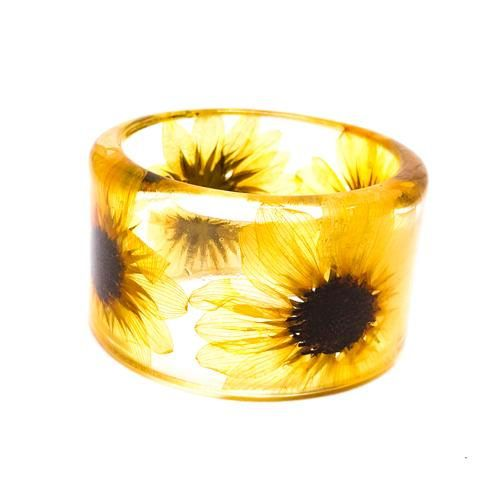 Etsy - Sunflowers Resin Jewelry