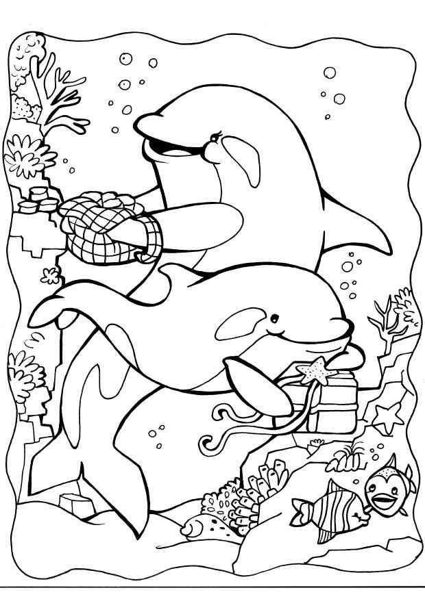 Delfine 12 Ausmalbilder | Ausmalbilder/Windowcolor | Pinterest ...