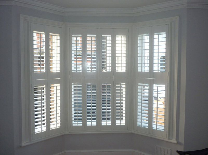 Bay window plantation shutters for the home pinterest window living rooms and house - Types shutters consider windows ...