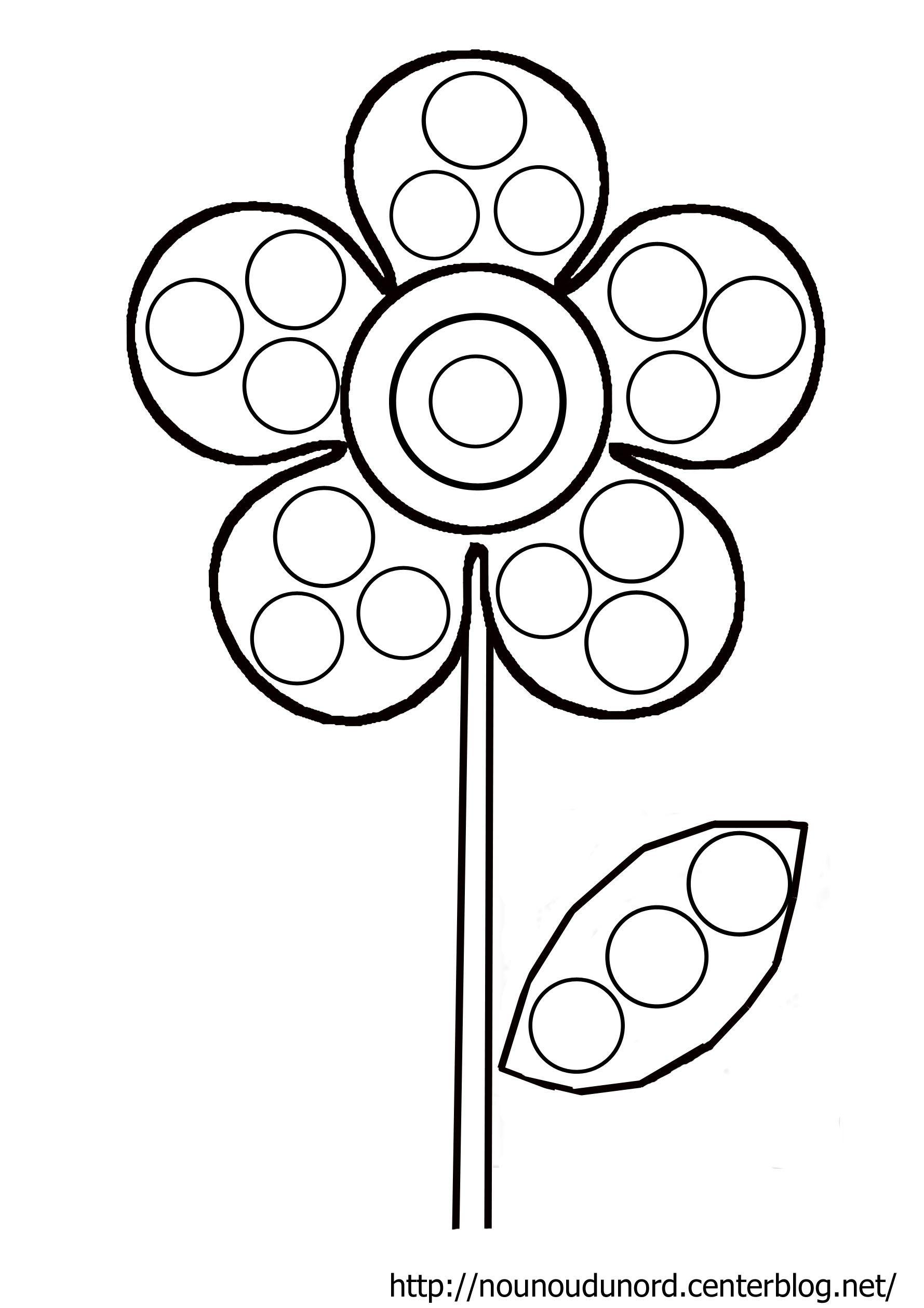 Image du blog activit s enfants pinterest coloriage fleur - Coloriage fleur 3 ans ...