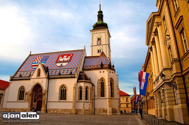 St Mark S Square Zagreb Zagreb Ribbed Vault Zagreb Croatia