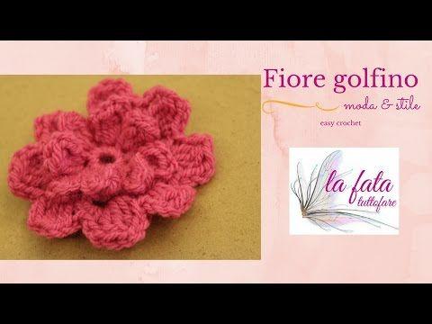Fiori Uncinetto Youtube.Tutorial Fiore Uncinetto Flower Crochet Youtube Uncinetto
