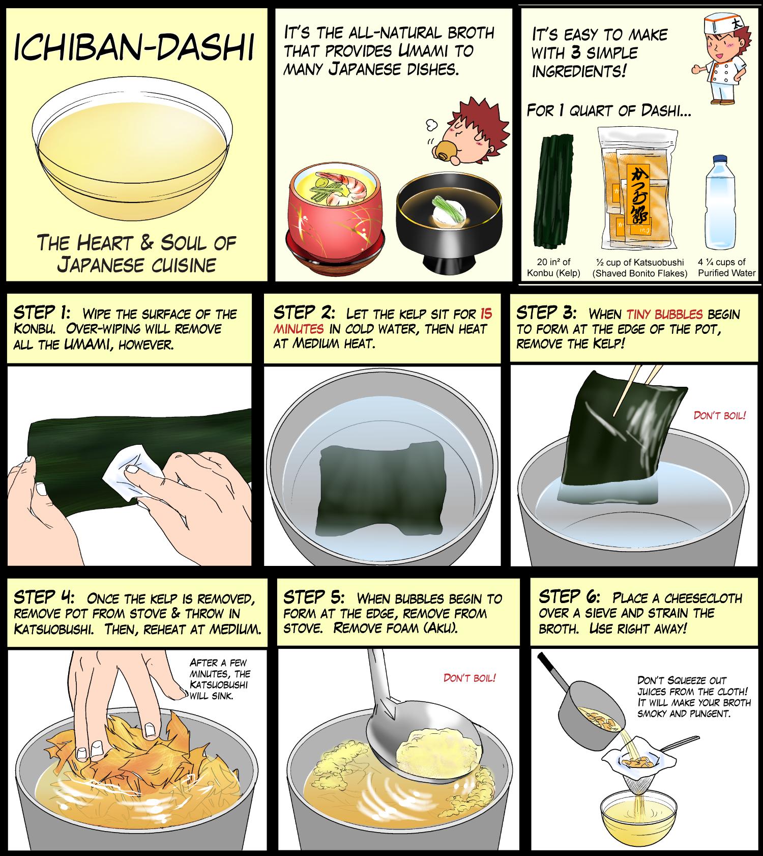 how to make vegetarian dashi stock