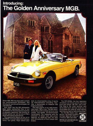 1975 MGB Golden Anniversary ad