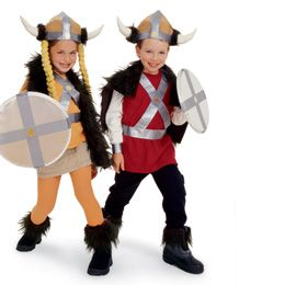 Striking Vikings Group Costume for Kids costume  sc 1 st  Pinterest & Viking hats and shields! The bous will go wild! | Birthday for 5 y/o ...