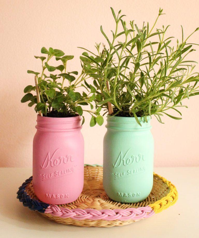 25 ways to start an indoor herb garden mason jar herb on indoor herb garden diy wall mason jars id=27524