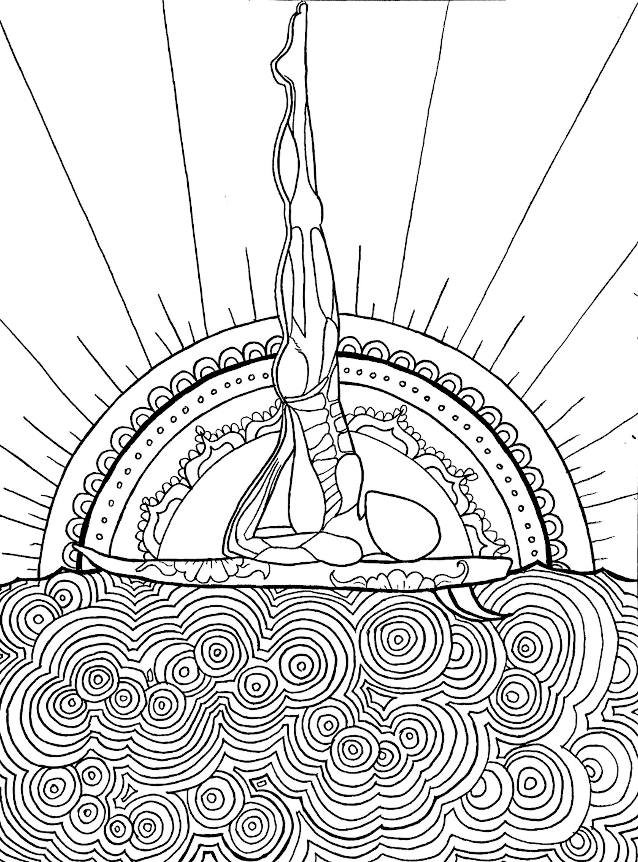 Coloring pages for down syndrome adults - A Coloring Page From Yoga In Color A Yoga Anatomy Coloring Exploration Check
