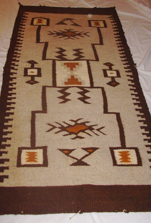 Vintage Handwoven Navajo Wall Hanging Rug Native American Indian