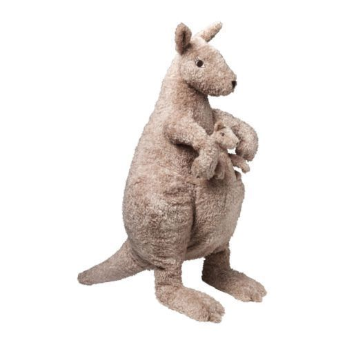 Ikea S Plush Giant 27 Stuffed Kangaroo W Baby Soft Toy Super