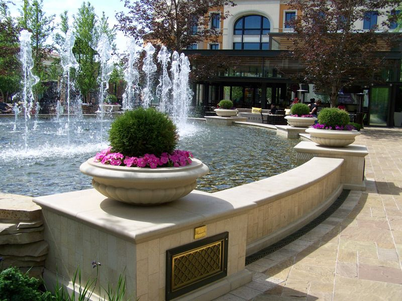 Fountains Of Cast Stone And Testimonial With Images Stone Pool Stone Landscaping Cast Stone