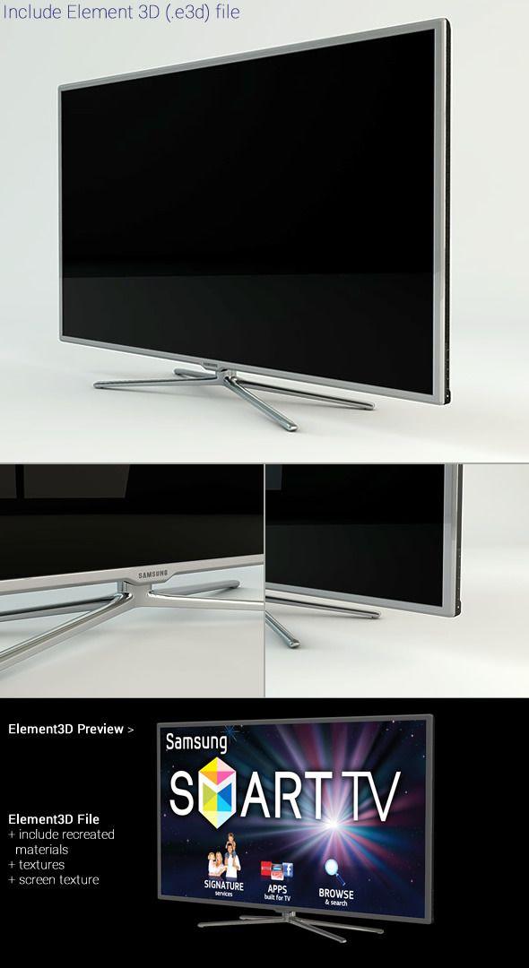 Samsung Smart TV 3D Models from 3DOcean net   I Like
