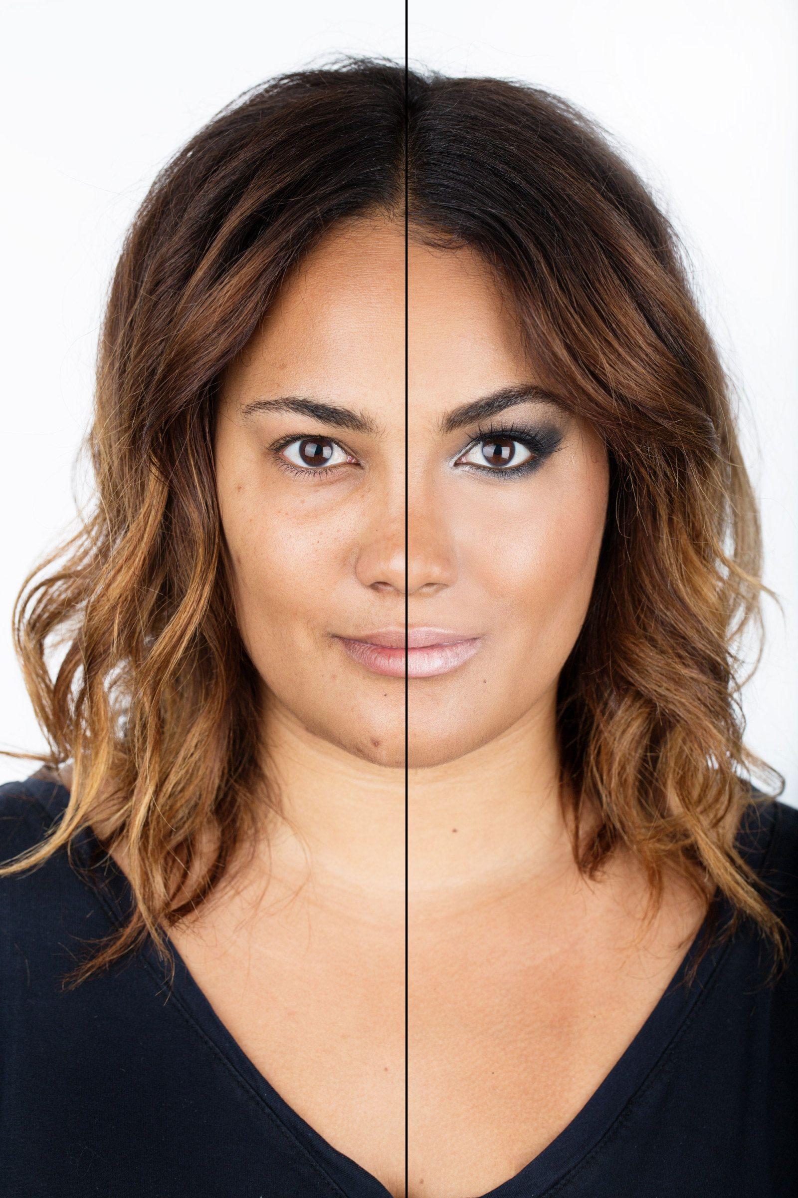 12 Stunning Photos of Women Without Makeup Heavy makeup