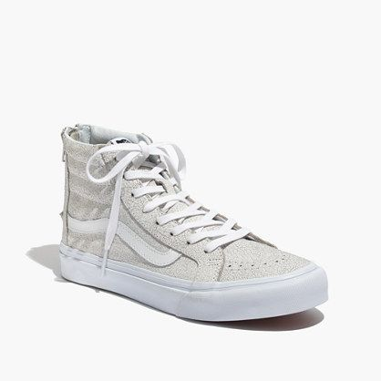 ae4260d07a78a9 Vans® SK8-Hi Slim Zip High-Top Sneakers in Crackled Suede   shoes   boots