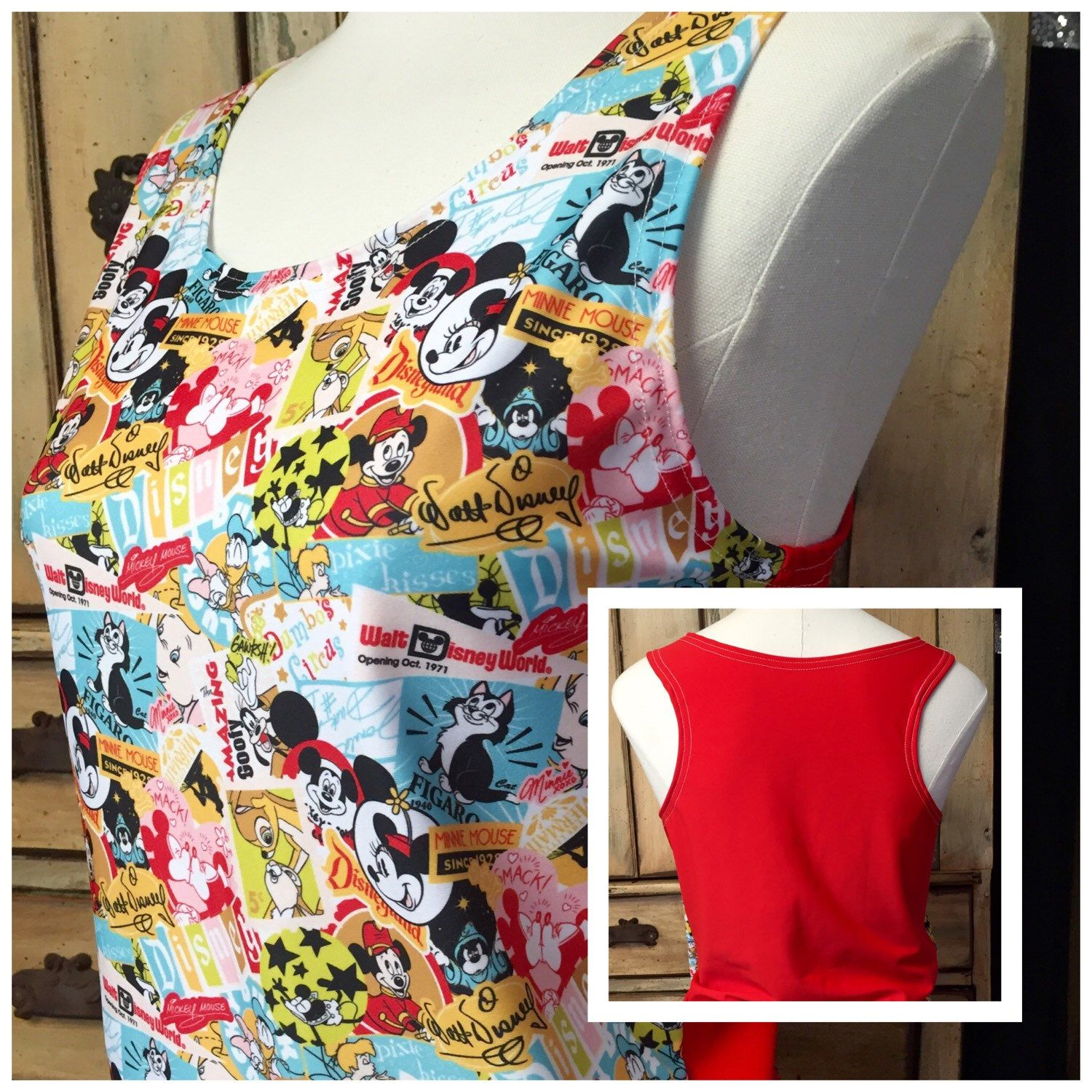 A personal favorite from my Etsy shop https://www.etsy.com/listing/293267397/mickey-minnie-mouse-disney-fabric
