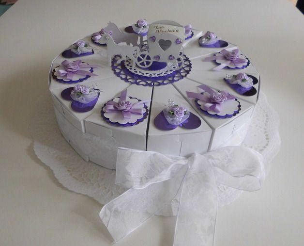 Geldgeschenke - Hochzeitstorte,Geldgeschenk - ein Designerstück von Kartenjule bei DaWanda