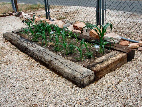 Raised Garden Beds With Railroad Ties Which Is My Plans Next Weekend