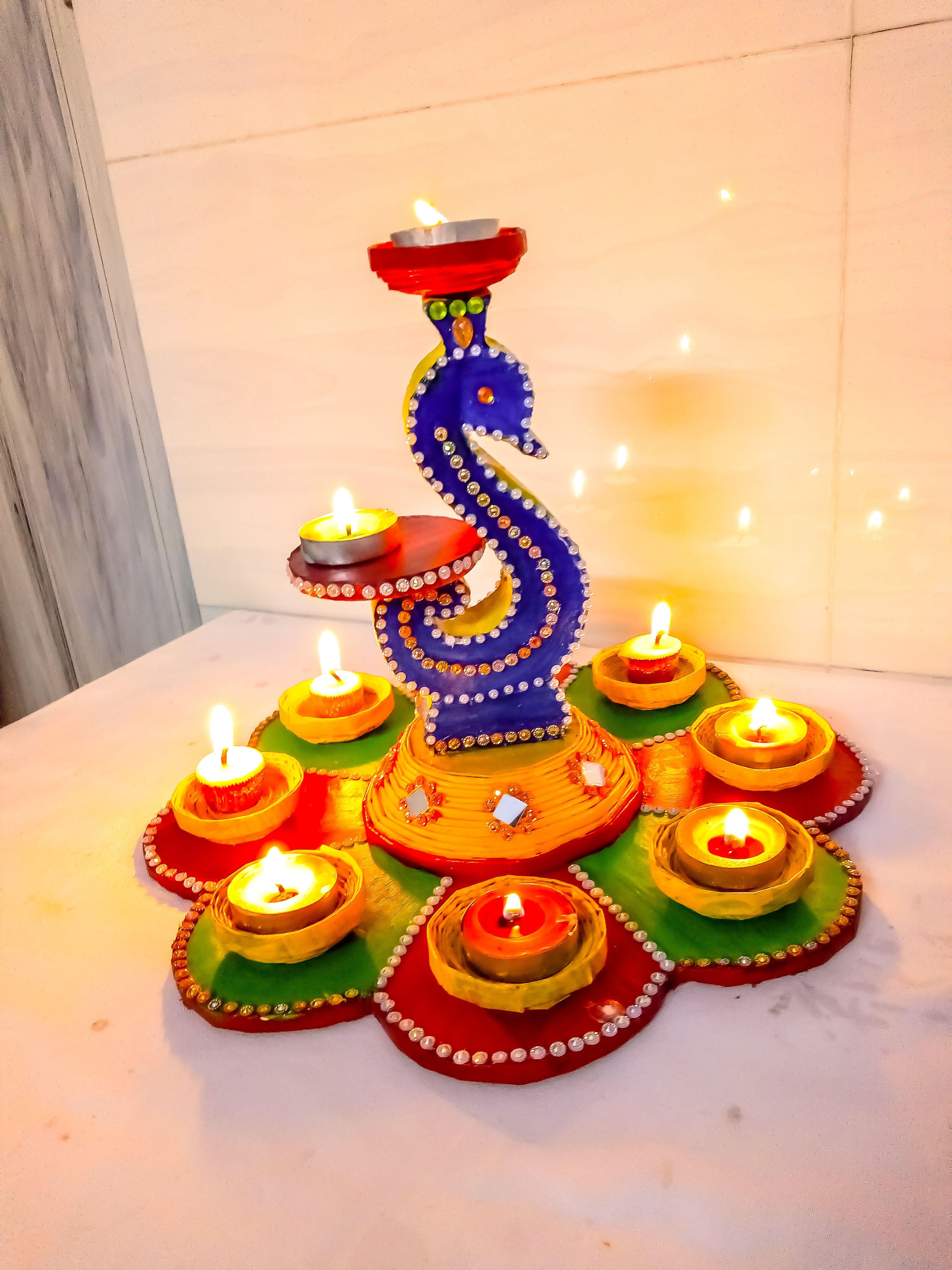 Diy Diya Stand Diya Holder Diwali Craft Ideas Diya Stand Making