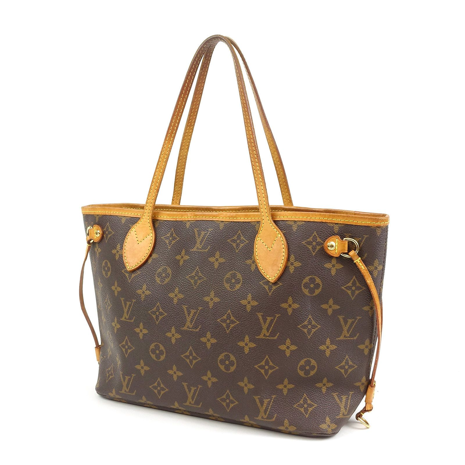 eb1807fe685e Authentic Louis Vuitton Monogram Neverfull PM Tote Bag M40155 Used F ...