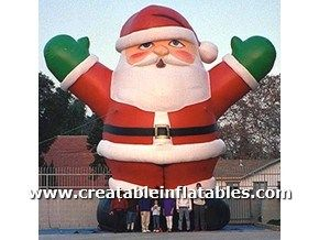 giant inflatable santa clause