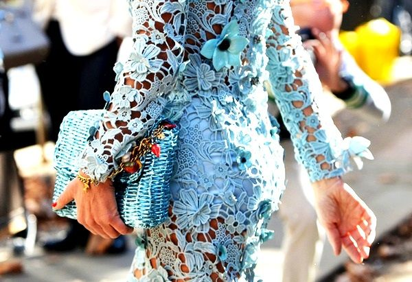 Loving this gorgeous light blue lace frock! Would you wear this oh-so pretty style?