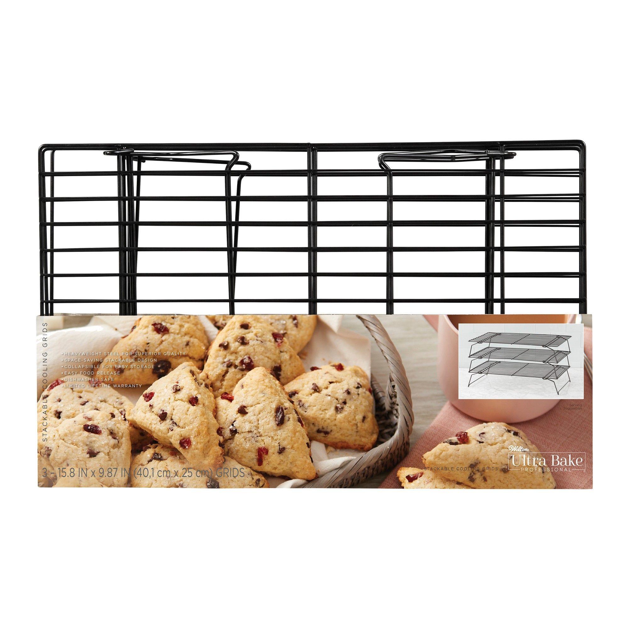 Wilton Ultra Bake Pro 3 Tier Cooling Rack Black Simple Storage