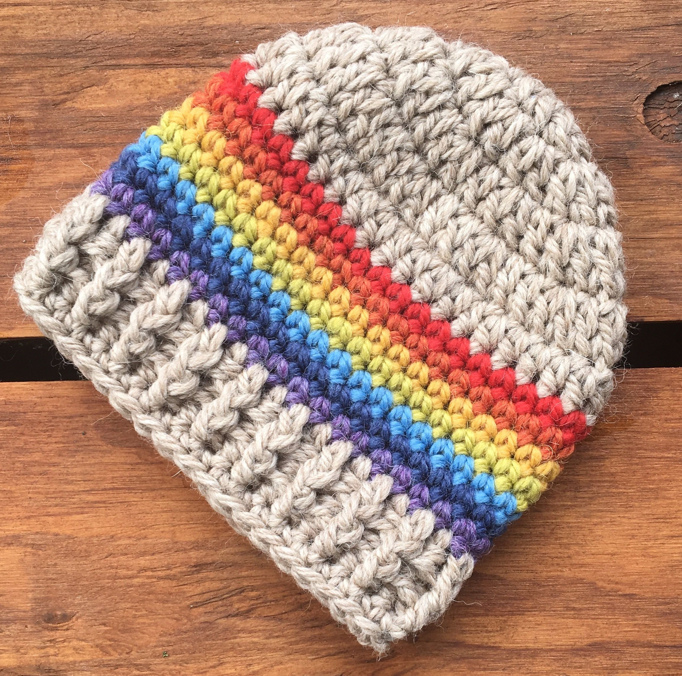 Crochet Rainbow Baby Hat beebb0cb5fb