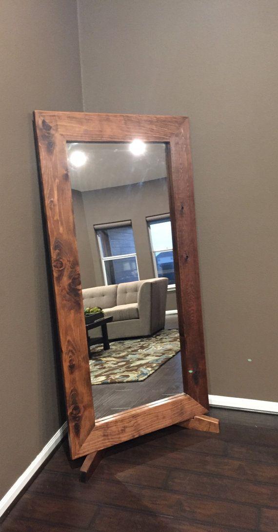 Custom Floor Mirror With Stand Diy Floor Mirror Living Room