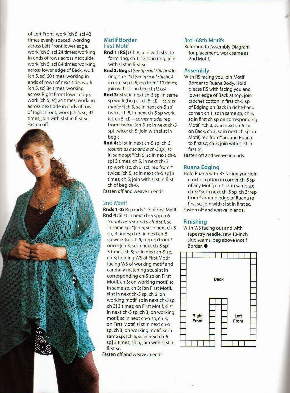 Chal Poncho Abierto Capa - Patrones Crochet | Moni | Pinterest ...