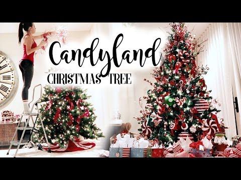 5 Candyland Christmas Tree Youtube Candy Christmas Tree Creative Christmas Trees Dollar Tree Christmas Decor
