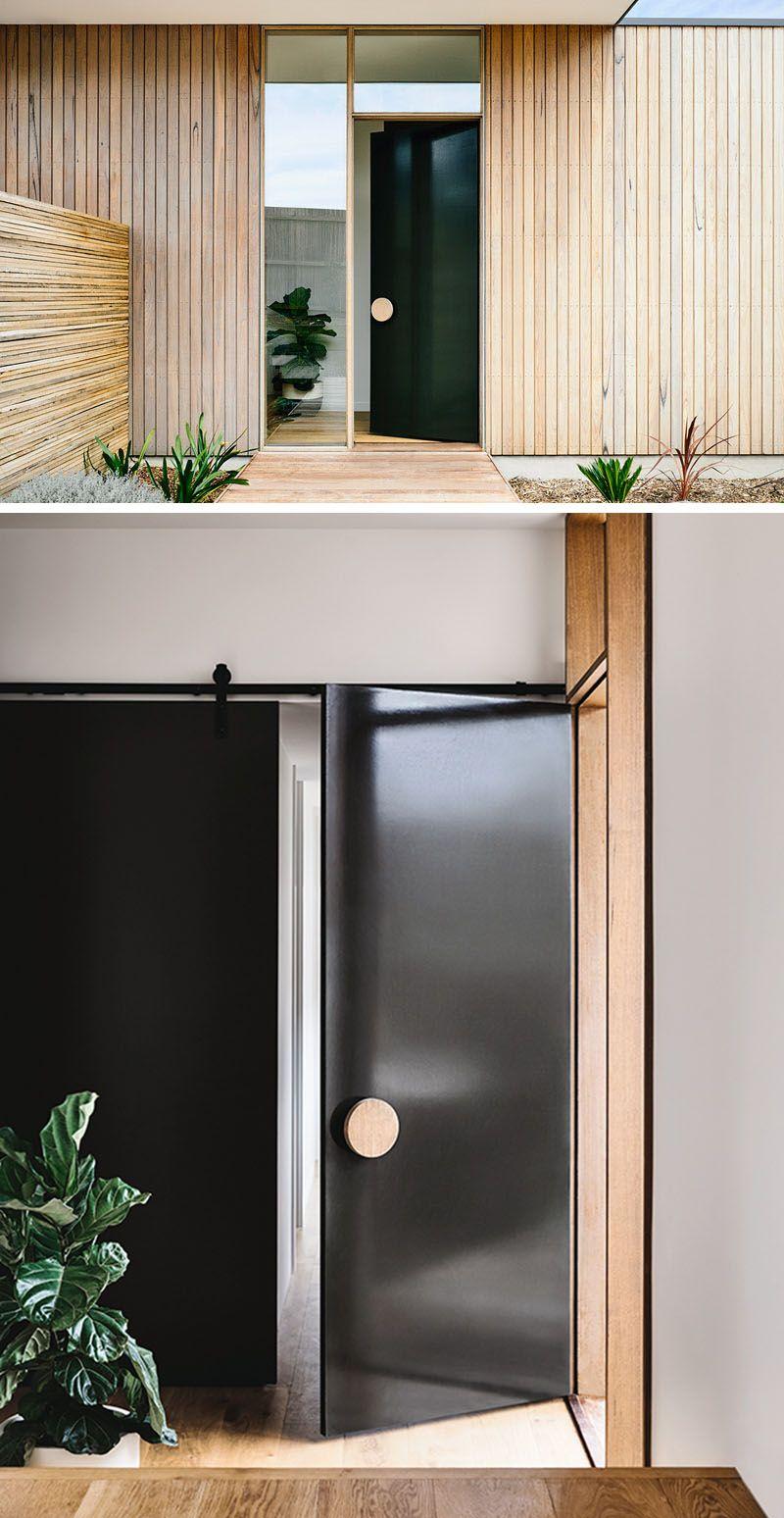 black front door handles. Front Door Design Idea - Use An Oversized Circular Handle For A Unique Look Black Handles