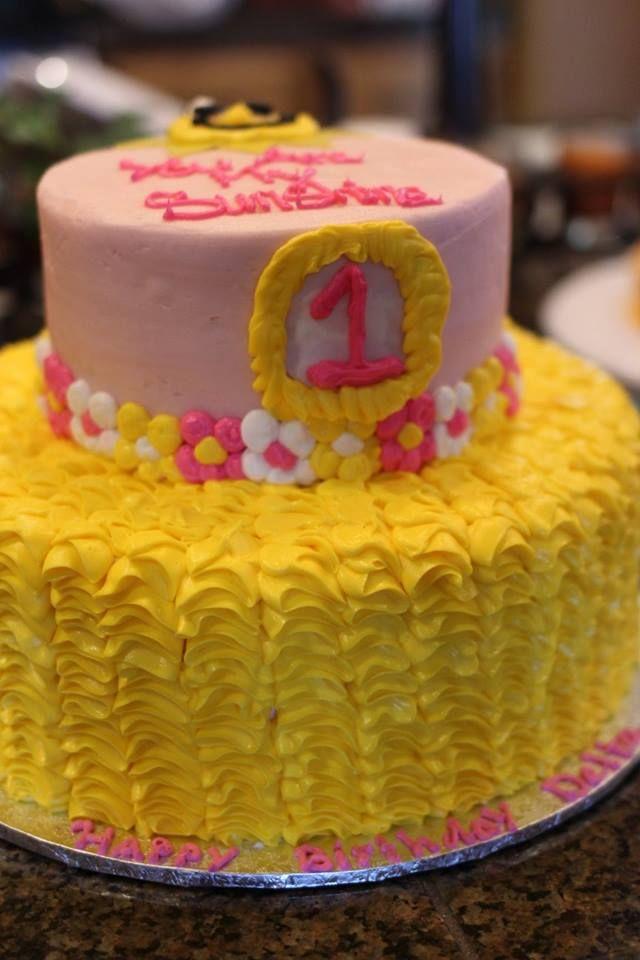 Outstanding Custom Sunshine Cake By Walmart Sunshine Cake Cake Girl First Funny Birthday Cards Online Elaedamsfinfo