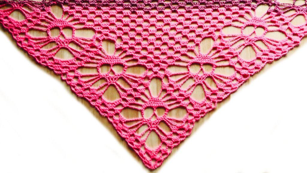 How To Crochet A Shawl Dreieckstuch Stricken Anleitung Kostenlos Hakeln Anleitung Hakeln Lernen