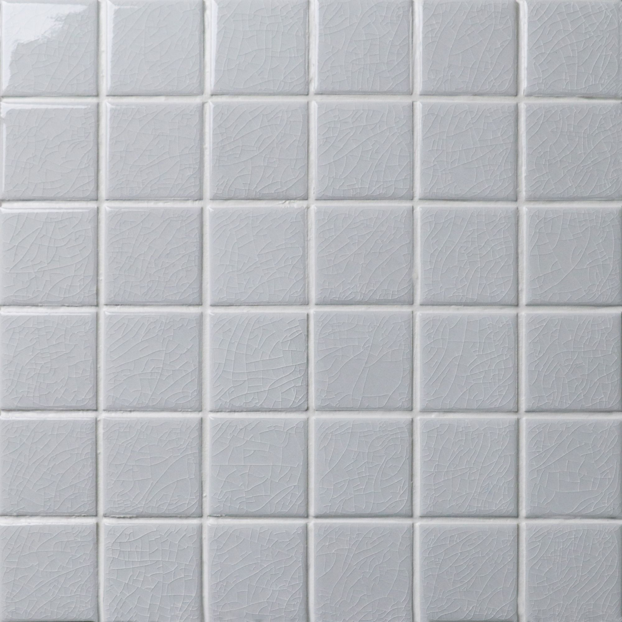 Light Grey Hue Can Easily Create A Warm And Cozy Space The 48x48mm Crackle Mosaic Pattern Is Perfectly Used In Poo Mosaic Flooring Mosaic Floor Tile Pool Tile