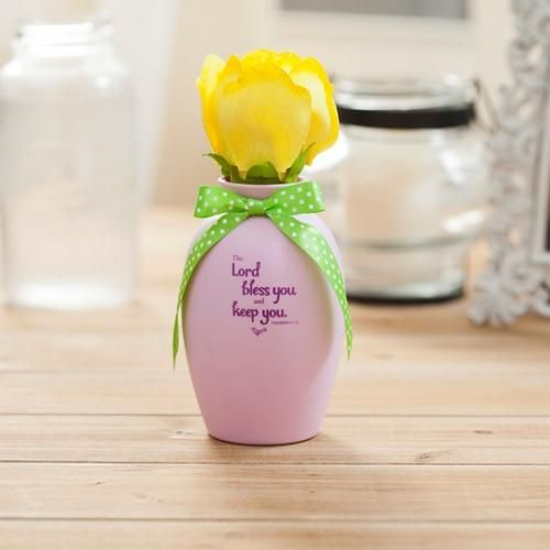 Blooming Expressions - Bless and Keep You - Yellow Rose Christian Mess