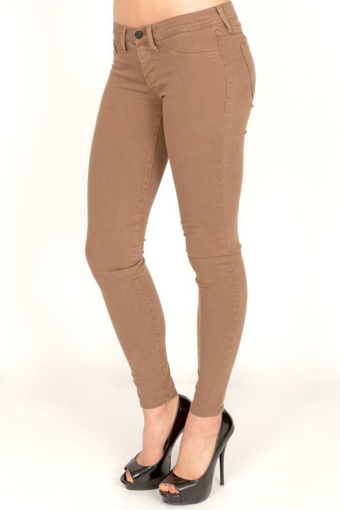 brown skinny jeans women - Jean Yu Beauty