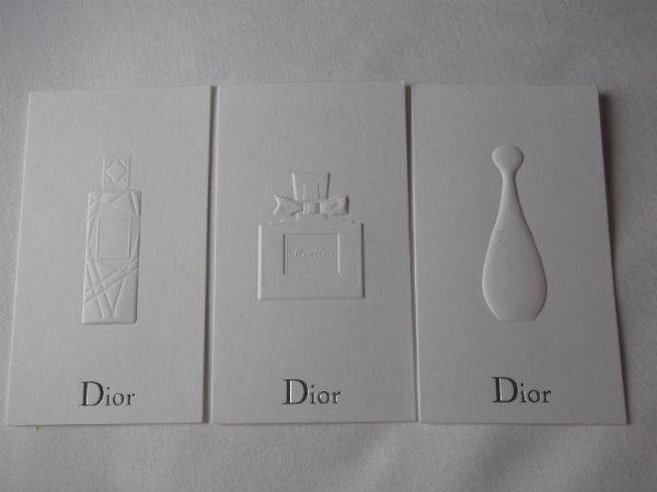 Dior Fragrance Cards