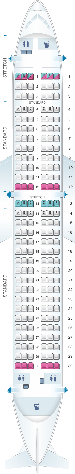 Frontier Airlines Seating Chart Airbus A320 In 2020 Air Transat Asiana Airlines Malaysia Airlines