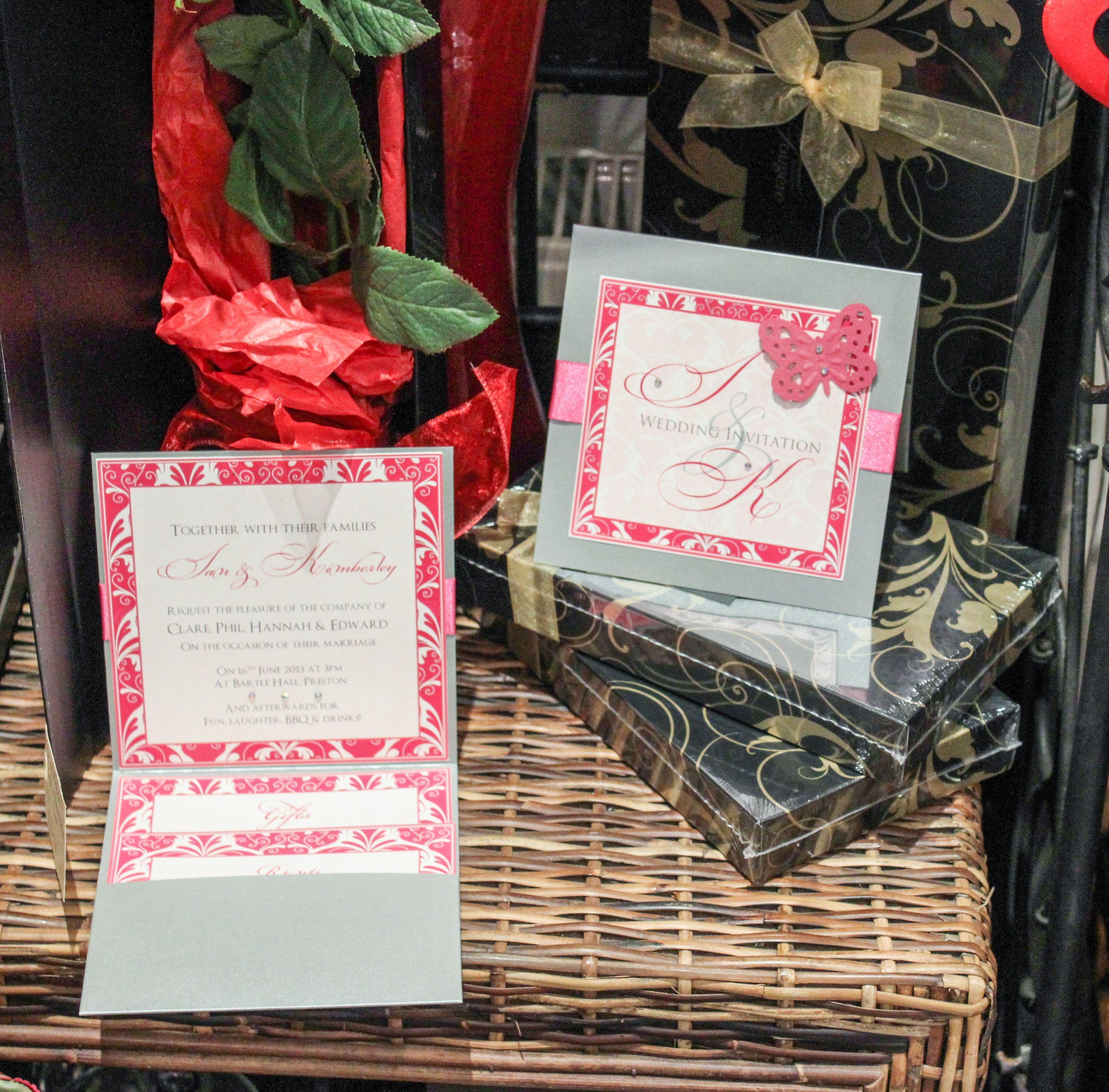 Butterfly pocketfold wedding invitation - email:info ...